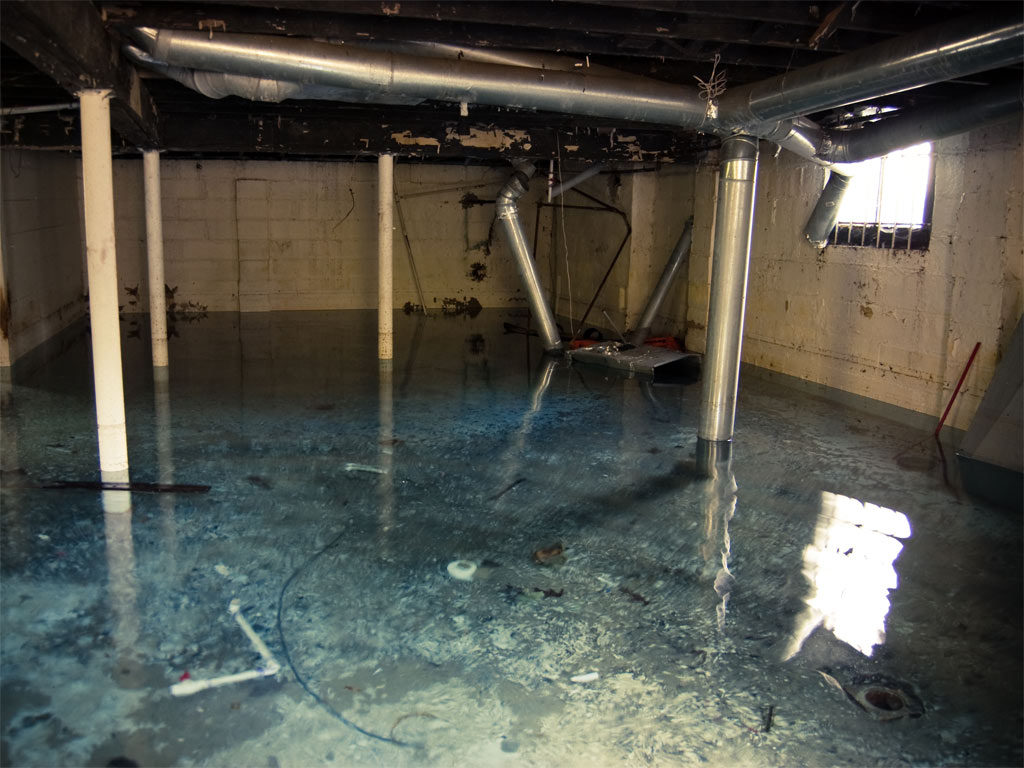 flooded basement cleanup