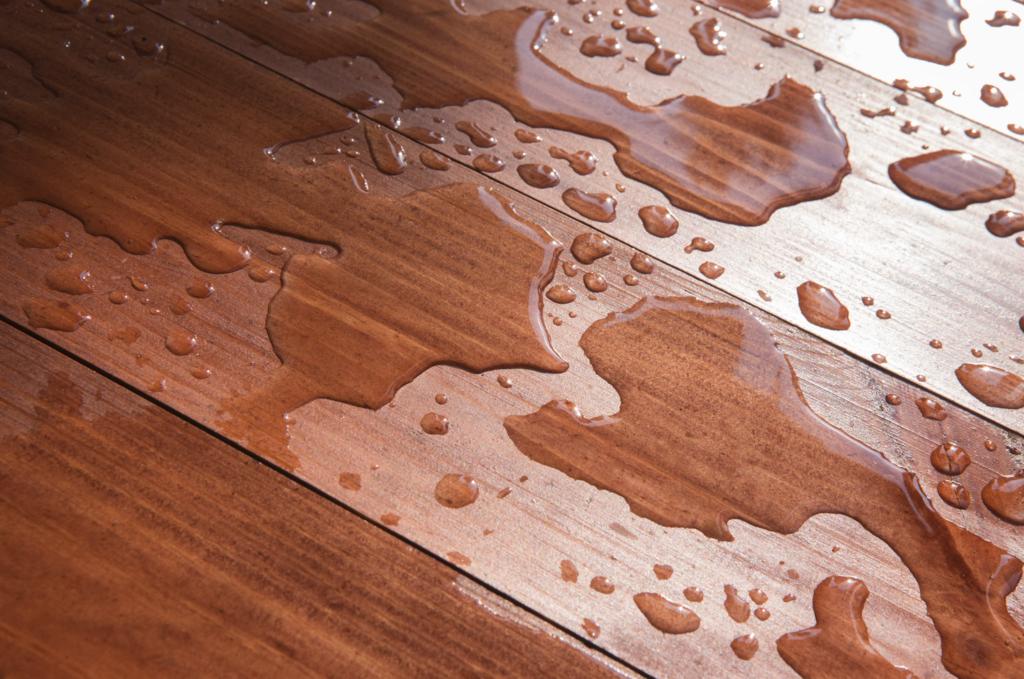water damaged hardwood flooring